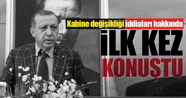 Erdoğan'dan kabine değişikliği iddiaları için ilk açıklama