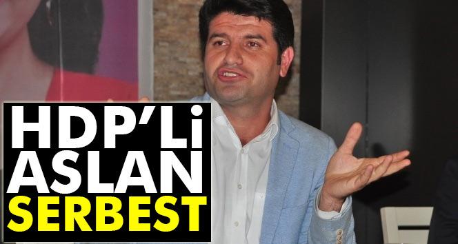HDP Batman Milletvekili Mehmet Ali Aslan serbest bırakıldı