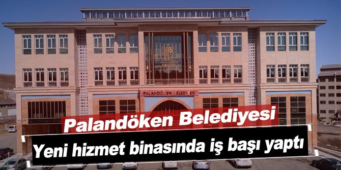 Palandöken Belediyesi yeni hizmet binasında iş başı yaptı