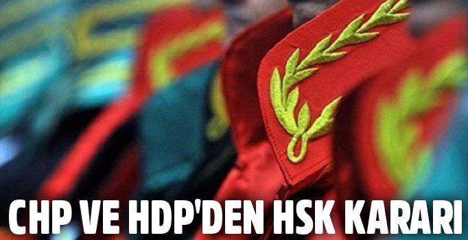 komisyona CHP ve HDP üye vermeyecek