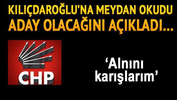 CHP'de genel başkanlık için ilk aday