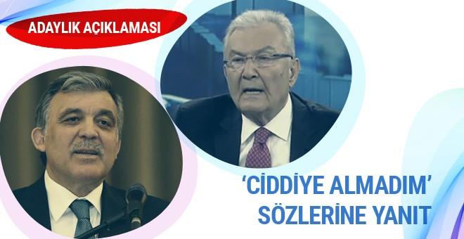 Baykal'dan adaylık açıklaması: Abdullah Gül benim