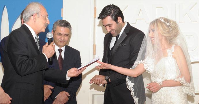 Kılıçdaroğlu, Hülya Arslan'ın nikah şahitliğini yaptı