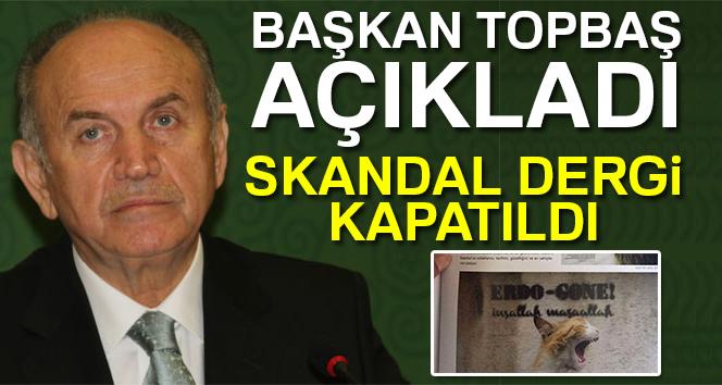 Topbaş: '1453 İstanbul Kültür ve Sanat Dergisini kapattık'