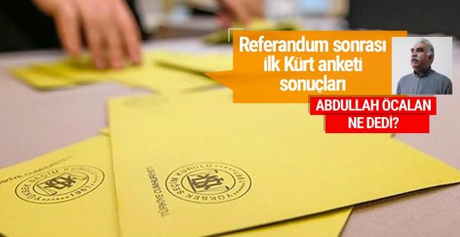 Referandum sonrası ilk Kürt anketi sonuçları