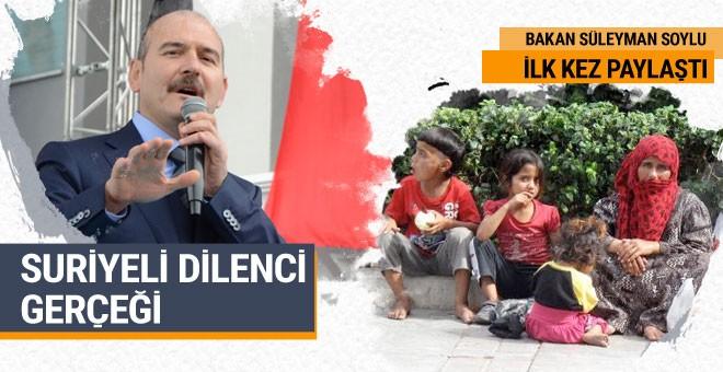 Suriyeli dilenci gerçeği Süleyman Soylu ilk kez açıkladı