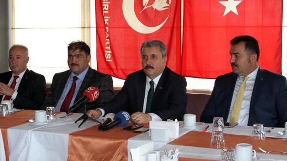 Destici Erzurum'da konuştu
