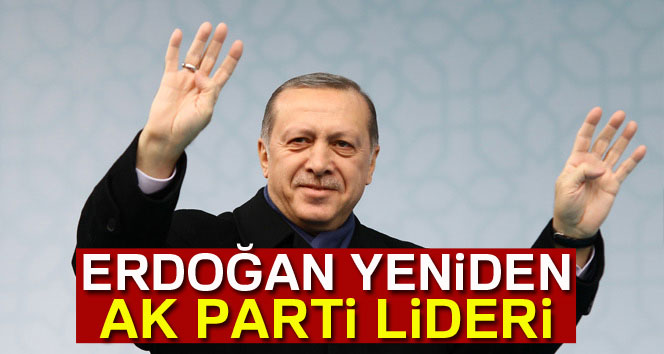 Erdoğan yeniden kurucusu olduğu partinin başında