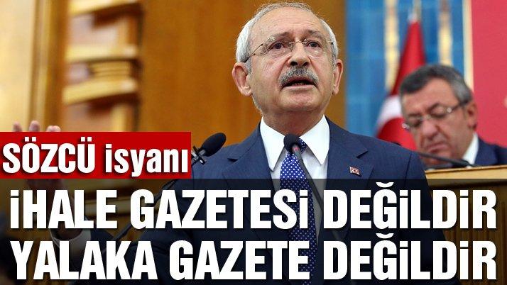 Kılıçdaroğlu'ndan Sözcü'ye destek