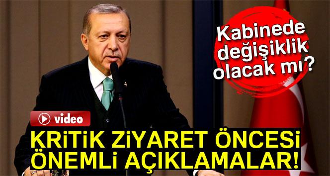 Erdoğan'dan Belçika ziyareti öncesi önemli açıklamalar