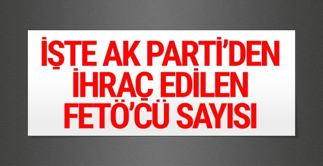 İşte AK Parti'den ihraç edilen FETÖ'cü sayısı