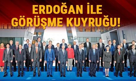 Erdoğan ile görüşme kuyruğu!