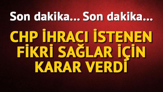 CHP'li Fikri Sağlar'ın cezası belli oldu