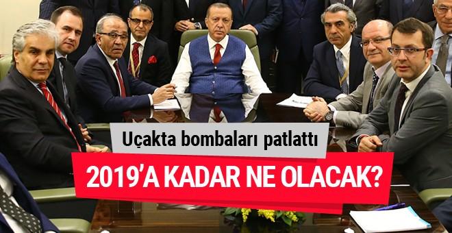 Erdoğan uçakta bombaları patlattı