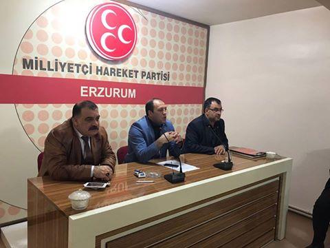Erzurum MHP görev dağılımı yaptı