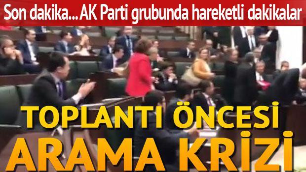 AK Parti grubu öncesi arama krizi
