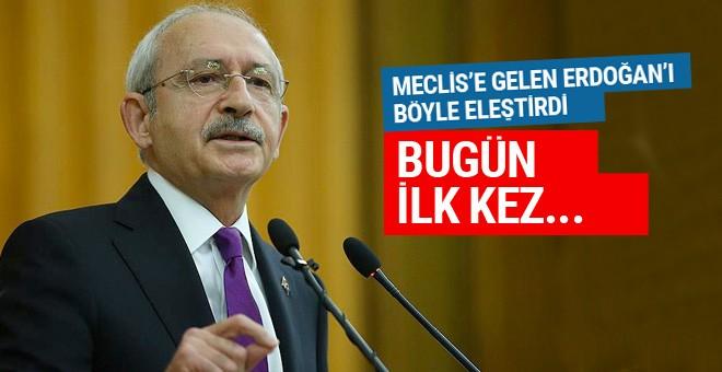 Kılıçdaroğlu'ndan Erdoğan'a tepki: Bugün ilk kez...