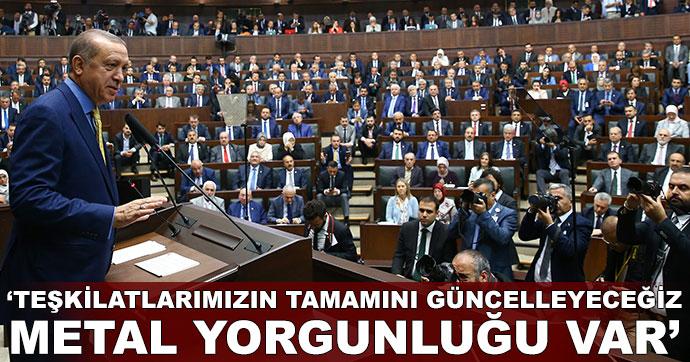 Erdoğan, AK Parti grup toplantısında konuştu