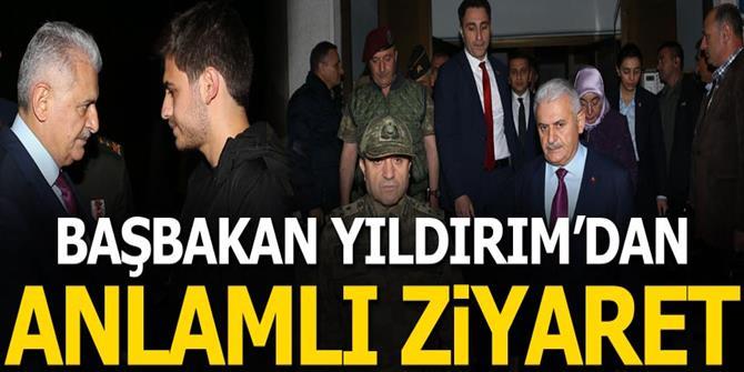 Yıldırım'dan Şehit Tümgeneral Aydın'ın ailesine taziye ziyareti