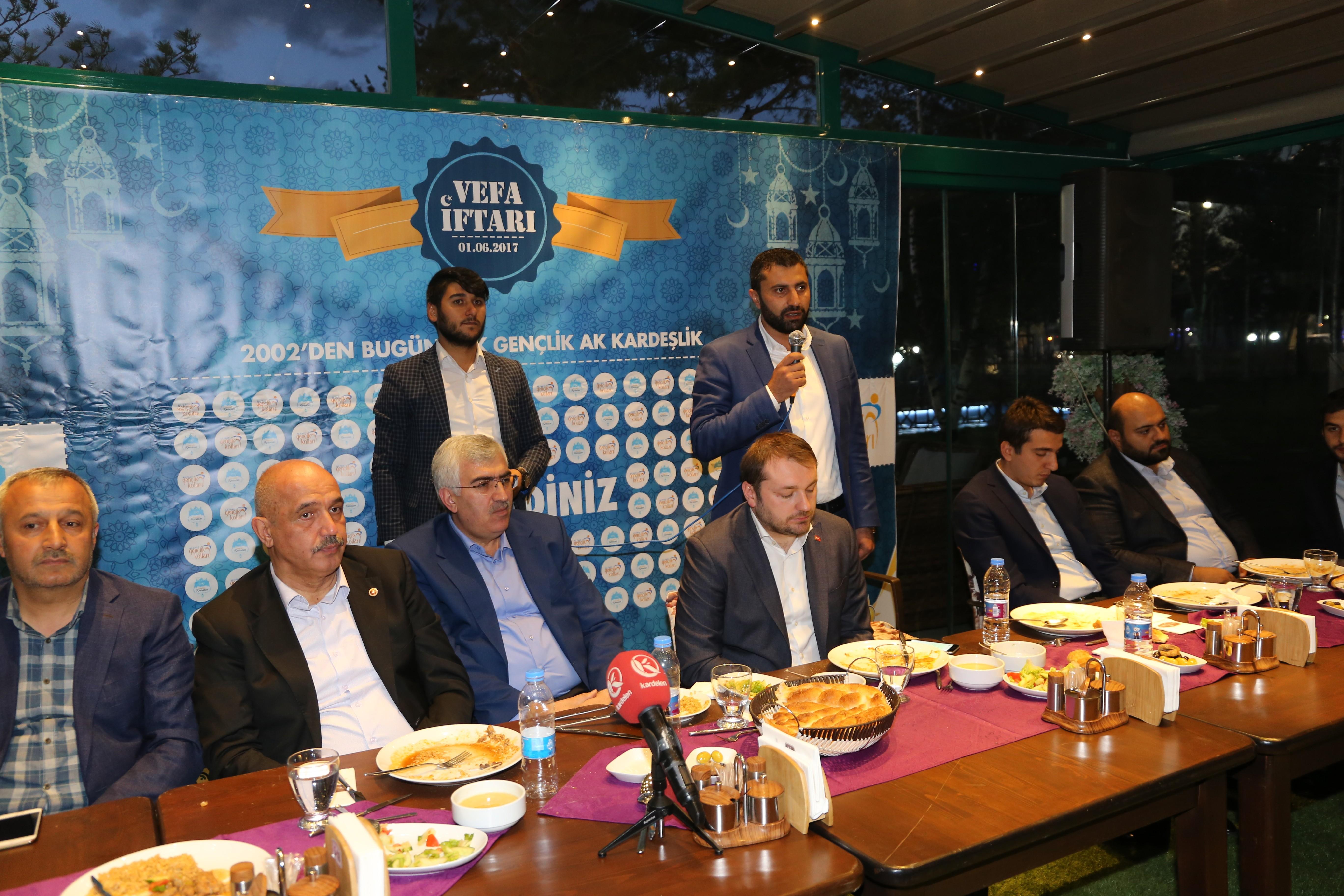 Erzurum AK Parti Gençlik Kollarından, ahde vefa iftarı