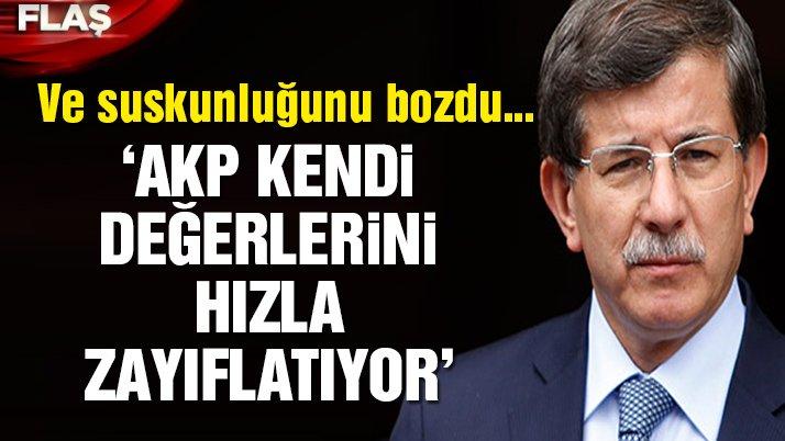 Davutoğlu suskunluğunu bozdu!