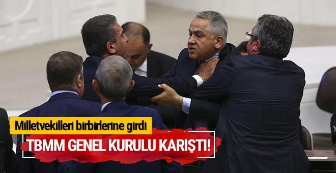 BMM Genel Kurulu karıştı! Milletvekilleri birbirlerine girdi