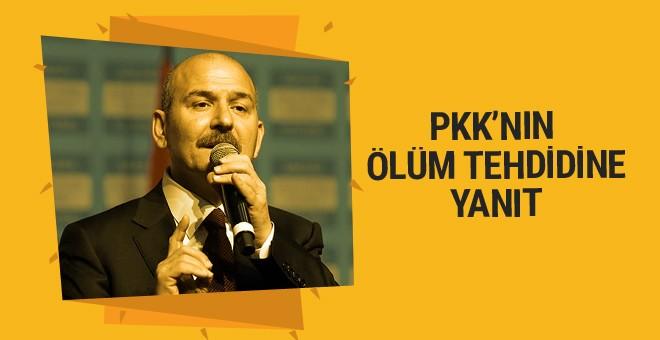 Soylu'dan kendisini ölümle tehdit eden PKK'lı Hozat'a yanıt
