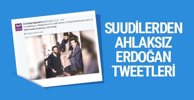 Suudi televizyonundan ahlaksız Erdoğan paylaşımları