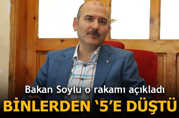 Soylu: Türkiye'de sadece 5 kişi terör örgütüne katıldı