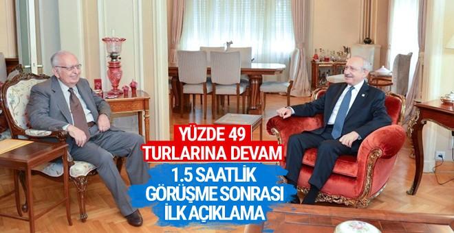 Kılıçdaroğlu Hüsamettin Cindoruk ile görüştü