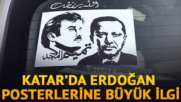 Katar'da Erdoğan posterlerine büyük ilgi