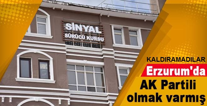 Erzurum'da AK partiliye özel kıyak