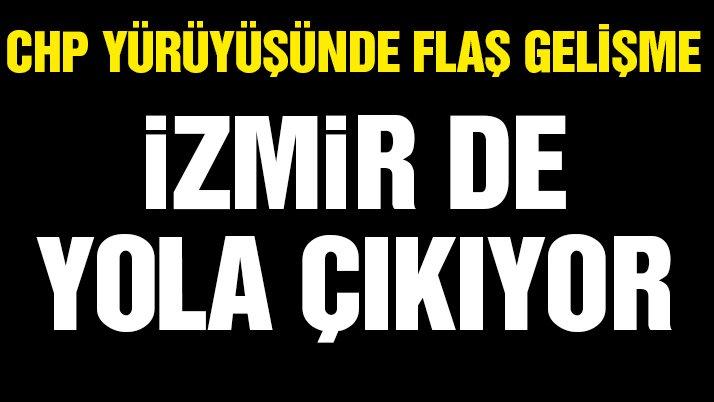 CHP İzmir'de adalet yürüyüşü başlatıyor…