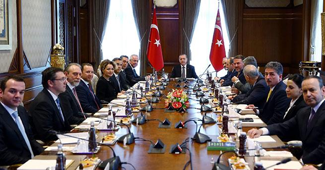Erdoğan, TÜSİAD üyelerini kabul etti