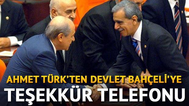 Ahmet Türk'ten Devlet Bahçeli'ye teşekkür