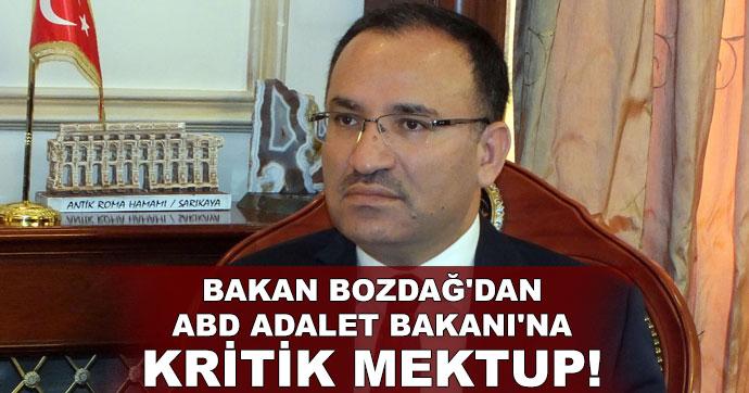 Bozdağ'dan ABD Adalet Bakanı'na kritik mektup!