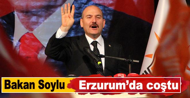 Bakan soylu Erzurum'dan seslendi