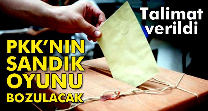 PKK'nın sandık oyunu bozulacak