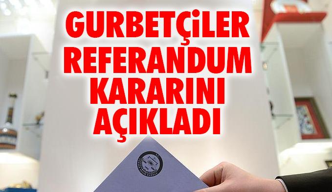 Almanya'daki Türk dernekleri referandum kararını açıkladı