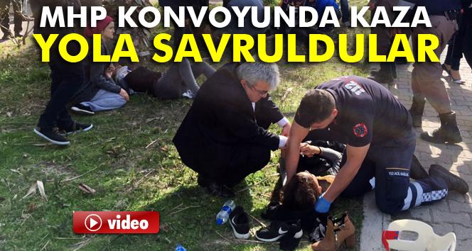 Antalya'da MHP konvoyunda kaza: 4 yaralı