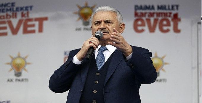 Yıldırım : PKK'ya, FETÖ'ye DAEŞ'e elveda demeye hazır mısınız ?