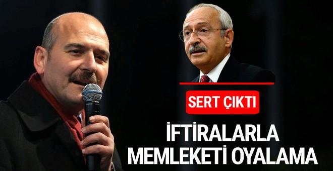 Süleyman Soylu'dan Kılıçdaroğlu'na: İftiralarla memleketi oyalama