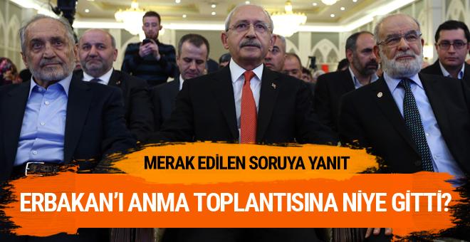 Kılıçdaroğlu Erbakan'ı anmaya niye gitti?
