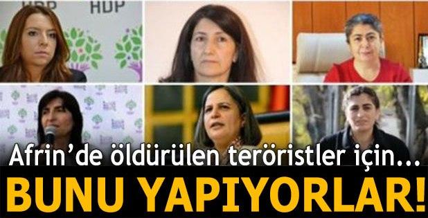 Tutuklu HDP'liler Afrin'de öldürülen teröristler için açlık grevi başlatıyor