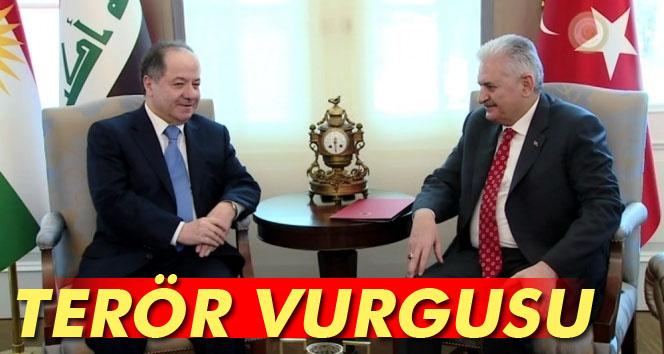 Yıldırım-Barzani görüşmesinde terör vurgusu