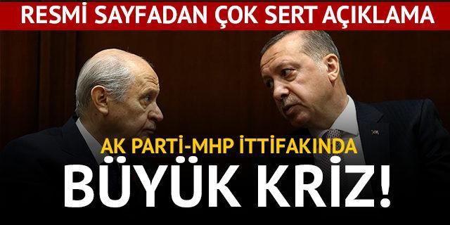AK Parti-MHP ittifakında büyük kriz!