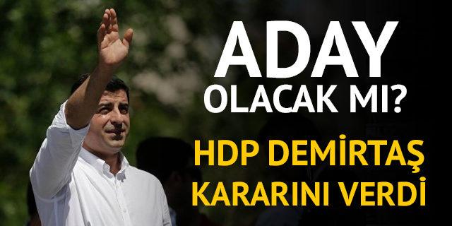 HDP'nin 24 Haziran seçiminde adayı Selahattin Demirtaş olacak