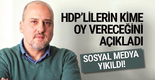 Ahmet Şık HDP'nin kime oy vereceğini açıkladı sosyal medya yıkıldı