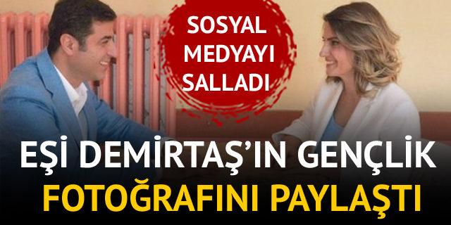 Eşi, Selahattin Demirtaş'ın gençlik fotoğrafını paylaştı