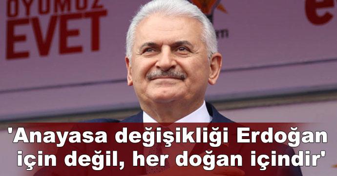 Anayasa değişikliği Erdoğan için değil, her doğan içindir